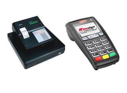Cash register and eftpos terminal