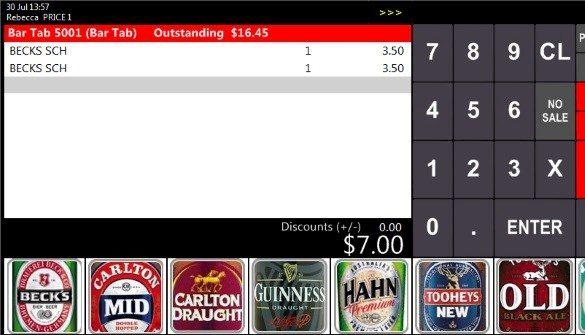 IdealPos bar tabs screenshot