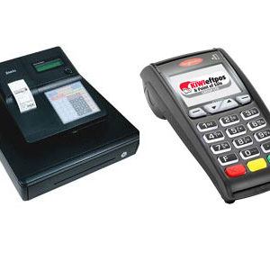 Cash register and eftpos terminal